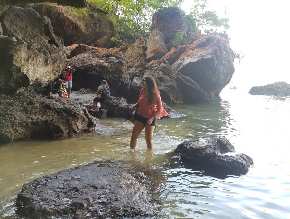 Me having fun at Railay Beach