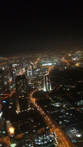 View from Burj Khalifa (148th floor)