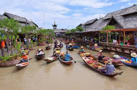 Floating market, Pattaya, Thailand
