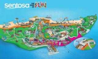 Sentosa map, Singapore