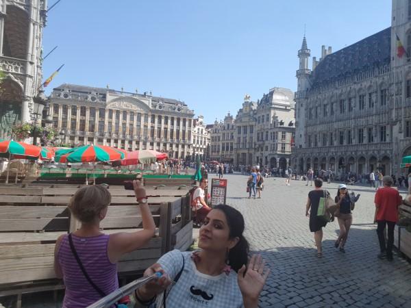 Saniya Puri, Grand Place, Brussels