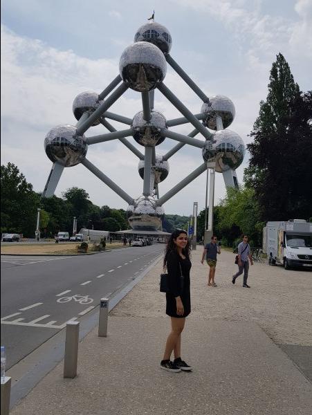 Saniya Puri at Atomium, Brussels