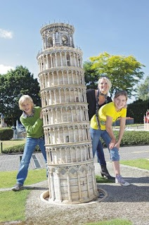 The Leaning Tower of Pisa, Mini Europe, Brussels, Belgium
