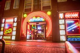 Red Light District,behind Dam Square, Amsterdam, Netherlands