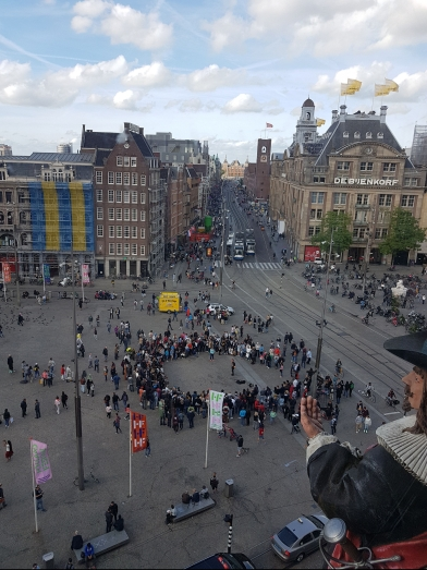 View from Madame Tussauds, Amsterdam Travel Diaries