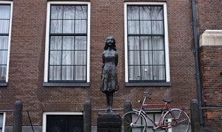 Anne Frank Statue, Amsterdam, Netherlands