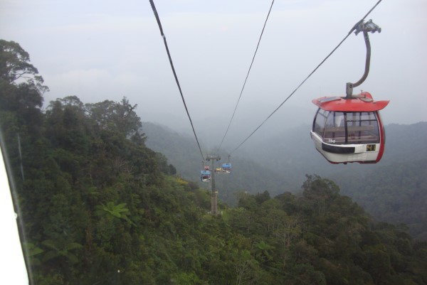 Cable ride to Genting, Pahang