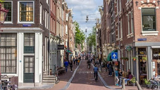 Jordaan street, Amsterdam, Netherlands