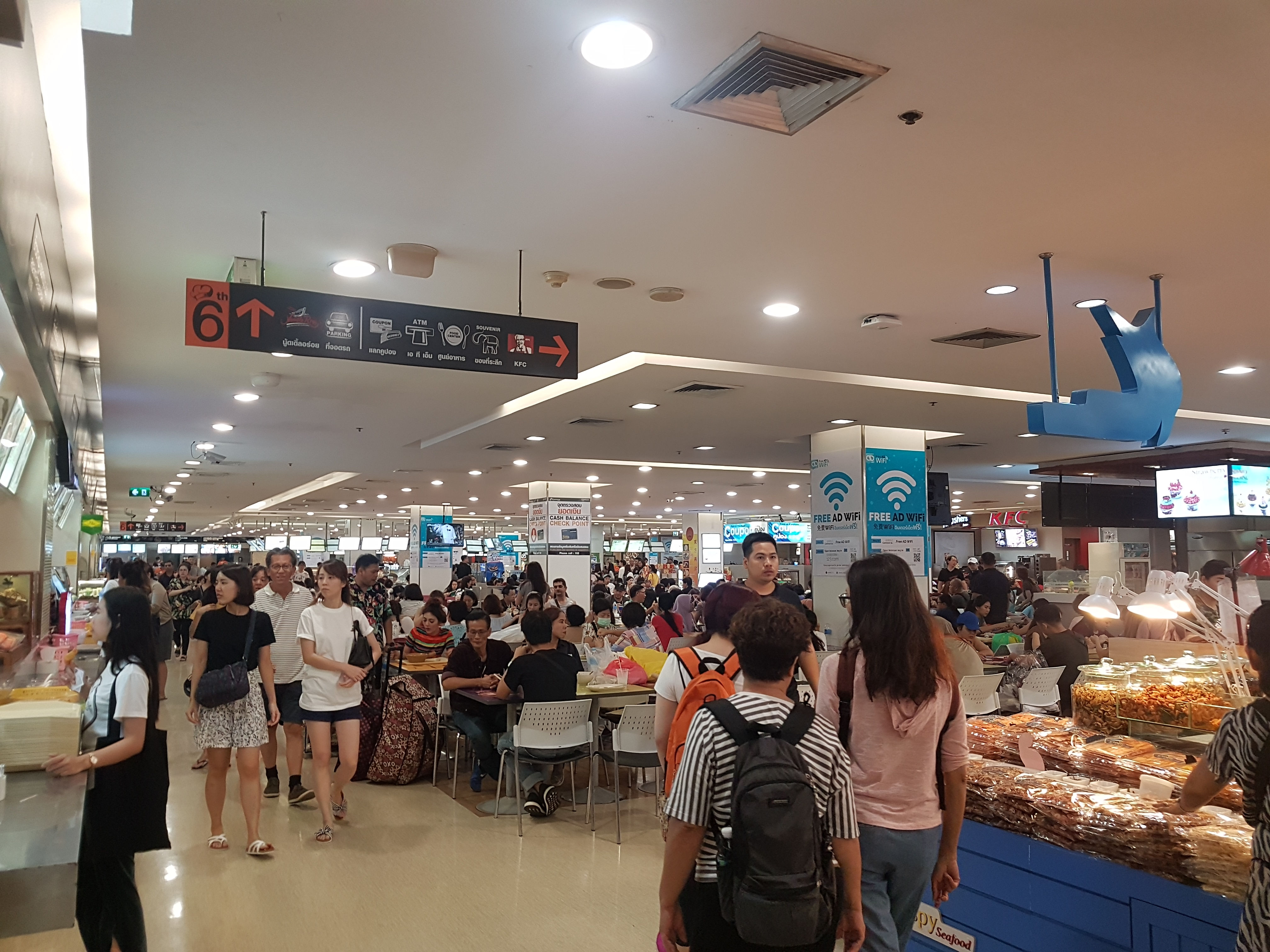 Platinum Mall Food Court, Bangkok Tour Guide