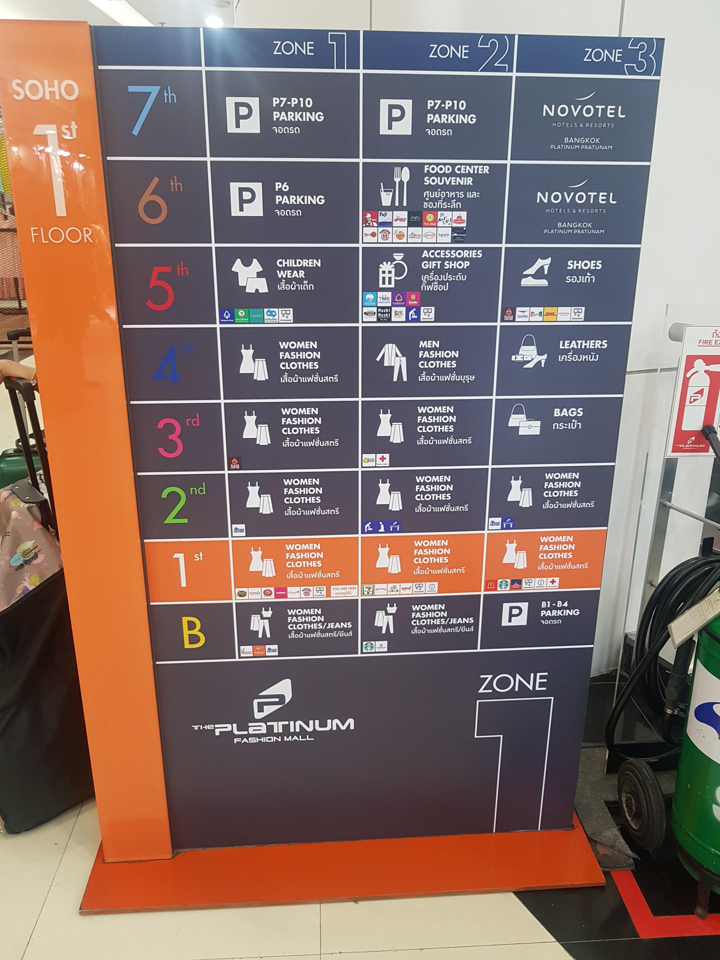 Platinum Mall Bangkok - Floor Plan